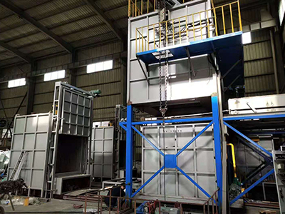 Gas fired aluminum alloy quenching furnace